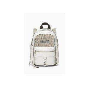 Rebecca Minkoff Net Mini Mab White Leather Backpack